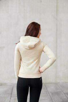 Beige Majuscule hoodie from Famme Beige, Custom Made, Turtle Neck, Hoodies, Sweaters, Cotton, Collection, Fashion, Moda