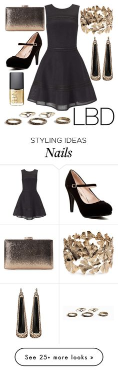 """LBD"" by nia-georgieva on Polyvore featuring Miss Selfridge, H&M and NARS Cosmetics"