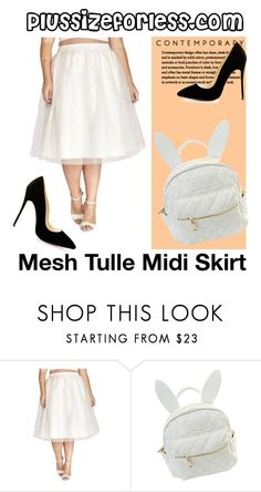 """plussizeforless"" by plussizeforless ❤ liked on Polyvore featuring cutekawaii"