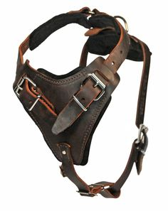Dean and Tyler The Boss Nickel Belt Style Buckles Dog Harness, Brown, Medium - Fits Girth Size: 28-Inch to 37-Inch *** Click on the image for additional details.