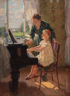 Louis Ritman At the Piano Piano Y Violin, Piano Art, Russian Painting, Russian Art, Music Collage, Art Music, Socialist Realism, Soviet Art, Fine Art Photography