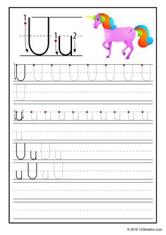 FREE Tracing Worksheet for Kids. Education Craft and Worksheet for Preschool,Toddler and Kindergarten. Learn to write the alphabet with 123 Kids Fun. Free Printable Alphabet Worksheets, Free Handwriting Worksheets, Alphabet Tracing Worksheets, Alphabet Letter Crafts, Preschool Letters, Preschool Worksheets, Free Preschool, Preschool Printables, Preschool Kindergarten