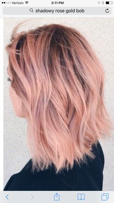 Pinterest: jaeelizabethh Peachy Pink Hair, Pink Short Hair, Pastel Pink Hair, Peach Hair, Hair Color Pink, Gray Hair, Ombré Hair, Dye My Hair, Hair Day