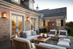 Take a peek at the luxurious outdoor shower and comfy seating on the HGTV Dream Home 2015 patio.