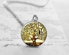 Tree of Life Pendant Necklace Gustav Klimt by petiteVanilla, $10.00
