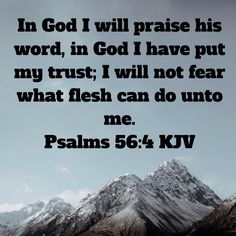 Psalms In God I will praise his word, in God I have put my trust; I will not fear what flesh can do unto me. Christian Warrior, Jesus Painting, King James Bible, My Jesus, Trust Me, Looking Up, Gods Love, Savior, Psalms