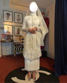 Malay Wedding Dress, Kebaya Wedding, Muslimah Wedding Dress, Muslim Wedding Dresses, Dream Wedding Dresses, Bridal Dresses, Wedding Gowns, Bridesmaid Dresses, Kebaya Modern Dress