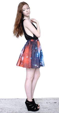 Crimson Galaxy Skirt AWESOME