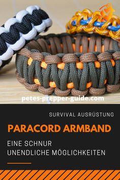 Welche Aufgaben ein Paracord Survivalarmband übernehmen kann, ist den wenigsten Trägern bewusst. Aber es liegt auf der Hand, dass sein wahrer   Nutzen für den Notfall gedacht. Mit Paracord lässt sich sehr gut   improvisieren. KLICK für mehr Infos! Pete's Prepper Guide l Krisenvorsorge l Krisenvorbereitung l Paracord Armband l Survival Ausrüstung l Prepper Ausrüstung Paracord Armband, Awesome Things, Thin Arms, Life Savers, Camping Equipment