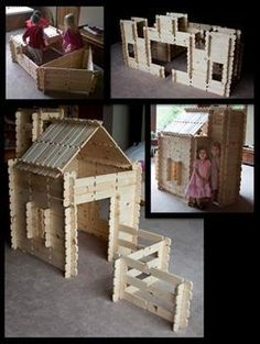 Life size kids play fort--  Make structures of all kinds: cabins, forts, castles, trains, boats, etc. Great Educational tool and fun for all ages.