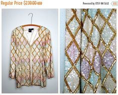 2-DAY FINAL SALE Amazing Iridescent Pastel Sequined by braxae