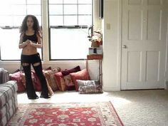 Belly dance choreography workout for beginners: Amelli Antar by 4 cats - YouTube