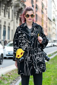 Street Style, Milan Fashion Week: 32 shots of the boldest prints outside the shows