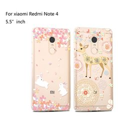 For xiaomi Redmi Note 4 Case Silicon Transparent clear Back Cover Case For xiaomi Redmi Note 4 Case and Cover.