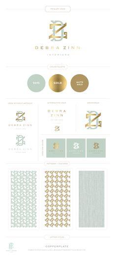 Branding Design for Debra Zinn Interiors | Branding, Logo, Interior Designer  |  www.EmilyMcCarthy.com