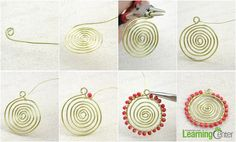 All Free Jewelry Making for You- How to Make a Wire Necklace in a Sunflower Pattern - Pandahall.com