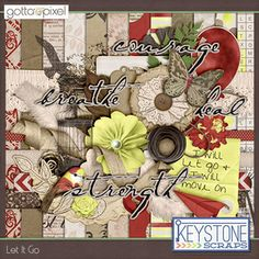 Let It Go Digital Scrapbook Kit. $5.99 at Gotta Pixel. www.gottapixel.net/