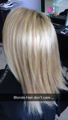 Heavy blonde foil with beige toner