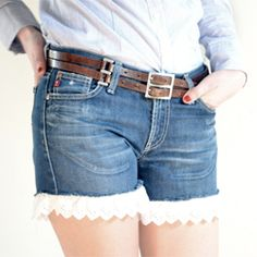 Make your own shorts with broderie anglaise. I really need to learn how to sew!
