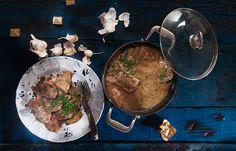 Σοφρίτο κερκυραϊκό με σπάλα μόσχου Beef, Meat, Ox, Steaks, Steak