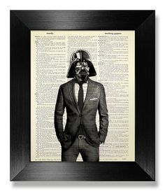 Print Art Star Wars, Star Wars POSTER, anniversaire cadeau homme, copain cadeau anniversaire Unique, décoration intérieure, bureau oeuvre - Cool Darth Vader