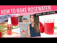 Watch this nice video and learn all of the benefits of rosewater, including a step-by-step tutorial on how to make it! Not only will you learn how to make homemade rosewater, but you'll get a DIY rosewater face toner recipe too! Making Rose Water, The Healthy Maven, Toner For Face, How To Make Homemade, Homemade Recipe, Beauty Cream, Essential Oil Uses, Beauty Recipe, Diy Beauty