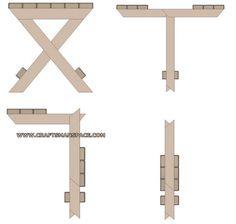 Camping stool plan - Folding steps