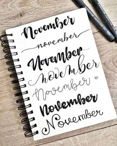 It's time to think about november spreads! 😏 What handlettering style do . - Journal id. - It's time to think about november spreads! 😏 What handlettering style do … – Journal ideas - Bullet Journal Headers, Bullet Journal 2020, Bullet Journal Aesthetic, Bullet Journal Notebook, Bullet Journal Ideas Pages, Bullet Journal Spread, Bullet Journal Layout, Bullet Journal Inspiration, Bullet Journal Ideas Handwriting