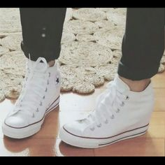 8df70f5c7b0 CONVERSE Chuck Taylor leather wedge sneakers Chuck Taylor Converse All Star  leather wedge sneakers in a
