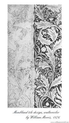 52 ideas for art deco pattern flower william morris William Morris Patterns, William Morris Art, Art Deco Pattern, Pattern Design, Carillons Diy, Zentangle, Flower Patterns, Pattern Flower, Ornaments Design