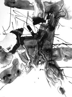 11x14in Contemporary Fine Art Abstract Expressionist Surreal Intuitive Drawing Modern Minimal Zen Poetic Gestural Ink Original OOAK Unique