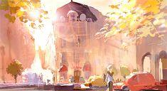 Pixar Animation Studios (Pixar) is an American computer animation film studio based in Emeryville, California. Pixar is a subsidiary of The Walt Disney Company. Disney Pixar, Disney Art, Walt Disney, Pixar Concept Art, Disney Concept Art, Environment Concept Art, Environment Design, Illustrations, Illustration Art
