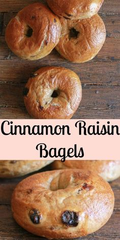 Make it Happen - Homemade Cinnamon Raisin Bagels an easy delicious bagel recipe. The perfect breakfast snack or anytime food. Cinnamon Bagels, Cinnamon Raisin Bagel, Breakfast Bagel, Breakfast Snacks, Perfect Breakfast, Bagel Bread, Bread Food, Breakfast, Sweets