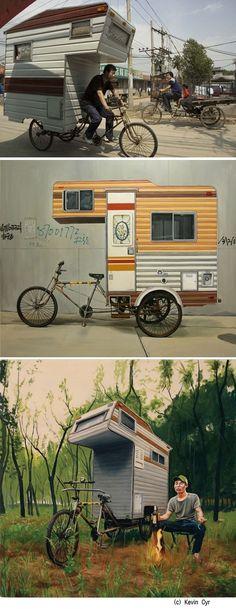 새로운 레져 아이템 캠핑 자전거