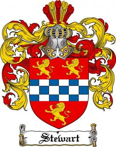 Stewart Coat of Arms Stewart Family Crest Instant Download
