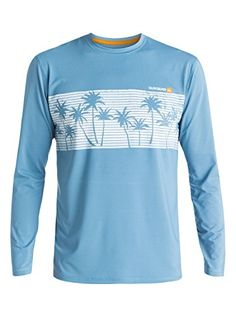 36e4b336a Quiksilver Waterman Mens Chill Long Sleeve Rash Guard Federal Blue XLarge  ** View the item