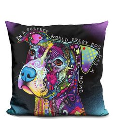 This Dean Russo Black 'in a Perfect World' Accent Throw Pillow is perfect! #zulilyfinds