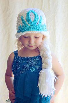 Size 23 years  Crochet Elsa Hat by AdorkableCrochet on Etsy, $28.00