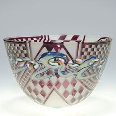 "John Byron vase,millefiori, diamonds, 4 1/2"", 1989"