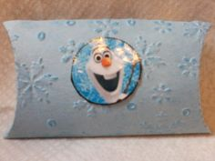 Olaf pillow box for treats- made using the Sizzix Big Shot