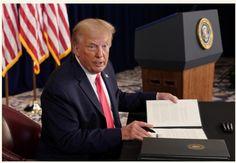 Trump signs coronavirus relief orders after talks with Congress break down