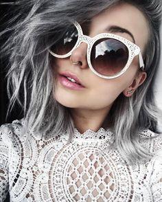 oversized white cat eye sunglasses trends