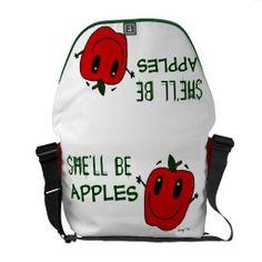 SHE'LL BE APPLES Messenger Bag