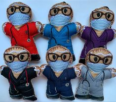 This cute little design has now been added to my collection. Dressed in real cotton scrubs with mask, glasses and faux leather shoes. Choice of colours. Sold individually. #nhs #nhsheroes #doctor #nursepractitioner #thankyou #graduationgiftideas #birthday #christmasdecor #christmasgifts #christmasdecorating #holidaydecorating #gingerbreadmancrafts #letterboxgifts #secretsantagifts #forhim Christmas Gifts, Christmas Decorations, Holiday Decor, Gingerbread Man Crafts, Medical Gifts, Letterbox Gifts, Baby Banners, Felt Baby, Little Designs