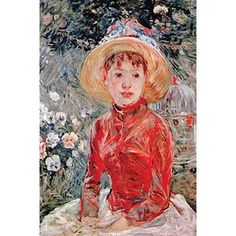 Born in France in Berthe Morisot was a contemporary of Monet, Degas, Renoir, Pisarro and Sisley. Pierre Auguste Renoir, Edouard Manet, French Impressionist Painters, Impressionist Artists, L'art Du Portrait, Berthe Morisot, Painting Prints, Art Prints, Paintings