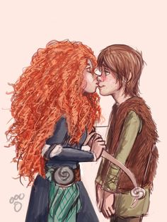 I'm not sure where this whole Hiccup and Merida ship came from, but I have to be honest, I kinda like it.
