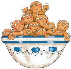 Tazón de galletas.