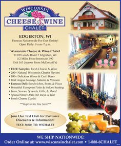 Wisconsin Cheese & Wine Chalet Ad