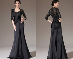 -can pick color from swatches- Custom Made New Black Lace Top Fitted Mother of the by STHNAB, $250.00