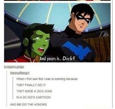 Beast Boy is the hero we deserve Young Justice League, Young Justice Robin, Young Justice Funny, Dc Memes, Funny Memes, Lego Dc Comics, Robins, Tim Drake, Beast Boy